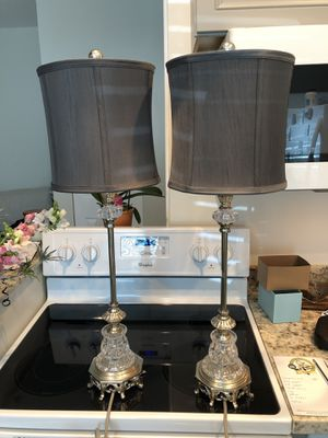 TWO Glass and metal lamps for Sale in Wilton Manors, FL