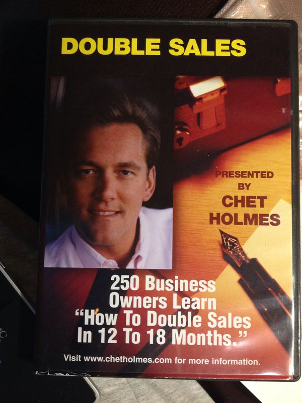 New Double Sales How to In 12 To 18 Months Chet Holmes - only 1 on Amazon or internet