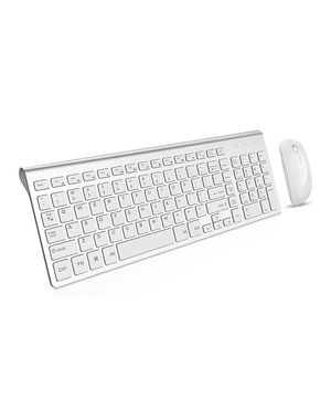 Wireless Keyboard and Mouse Combo, Gamcatz Cordless Ergonomic Ultra Thin Full Size Keyboard with Number Pad and Rechargeable Slient Click Mouse for Sale in Orange, CA