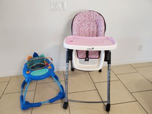 Safety 1st high chair and walker for Sale in Kissimmee, FL