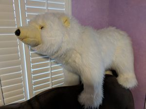 Large polar bear stuffed animal. Non-smoking household. Very good condition for Sale in Alexandria, VA