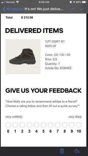 Yeezy desert boots oil size 5.5 for Sale in Woodbridge, VA