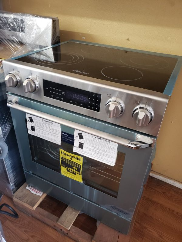 "NEW ! DACOR 30"" STAINLESS STEEL 2018 SLIDE IN STOVE"
