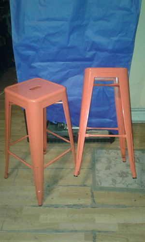 Set of Orange shop stools for Sale in St. Louis, MO