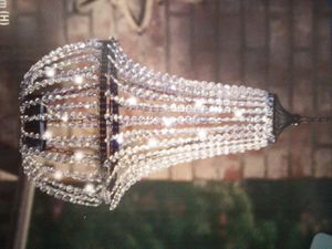 Brand New in box color changing led diamond light with remote teardrop chandelier for Sale in Tustin, CA