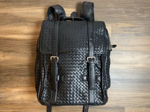 Black leather braided backpack for Sale in Saugus, MA