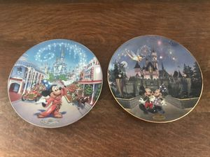 """Disney World 25th anniversary plate """"Main Street USA"""" & DisneyLand 40th anniversary plate """"Sleeping Beauty Castle"""" - pick up in Donelson - shipping p for Sale in Nashville, TN"""