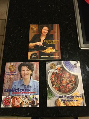 3 Meredith Laurence Cookbooks - Pressure cooking for Sale in Burlington, NC