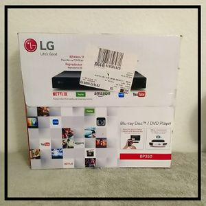NEW LG BP350 BLU RAY DISC/DVD/CD PLAYER for Sale in Bellingham, WA