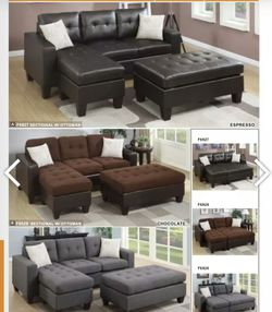 Sectional couch with ottoman for Sale in Las Vegas,  NV