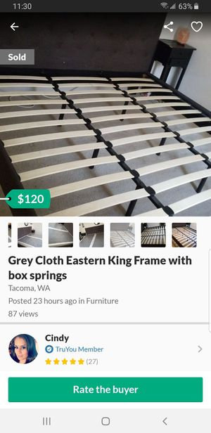 Bed Frame with Box Spring for Sale in Tacoma, WA