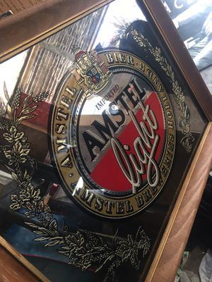 Vintage Amstel bar mirrored picture. 15x20 in great condition for Sale in Oakley, CA