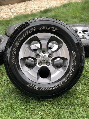 Bridgestone Dueler A/T RH-S tires with rims (set of 5) for Sale in Saugus, MA