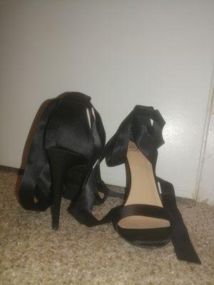D Brand Black Tie Up Heels for Sale in Nashville, TN
