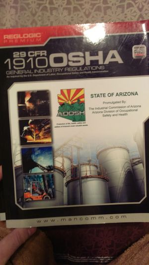 29 CFR 1910 OSHA Construction Regulations for Sale in Tempe, AZ