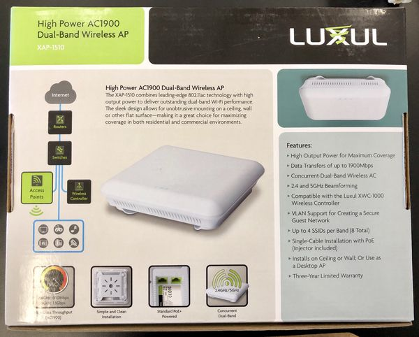 Luxul AC1900 Dual-Band Wireless AP XAP-1510 (NEW) for Sale in Santa Rosa,  CA - OfferUp