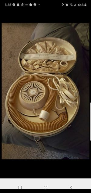 Vintage GE Hair Dryer 1976 Portable Bonnet Hair Dryer Carrying Case for Sale in Dania Beach, FL