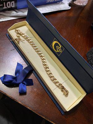 14k yellow gold bracelet 43,4 grams for Sale in Carol Stream, IL