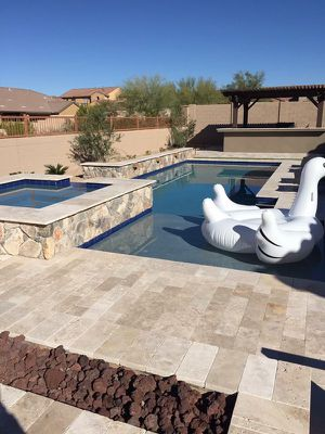 Travertine Pool Deck Pavers for Sale in Houston, TX