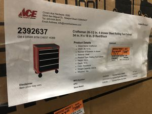 Brand New Craftsman 4 drawer steel rolling cabinet for Sale in Irvine, CA