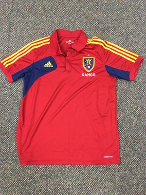 Adidas Polo Men's Size Large Real Salt Lake Shirt Soccer Jersey for Sale in Montoursville, PA