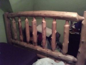 New King size log frame with box spring for Sale in Duluth, MN