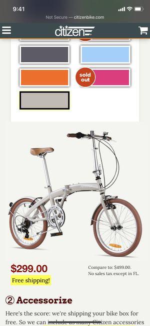 Citizen bike Miami 6' inch (sand color) for Sale in Jersey City, NJ