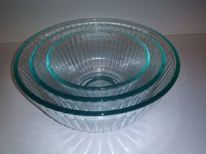 Blue Tint Pyrex Mixing Bowl Set for Sale in Garden Grove, CA