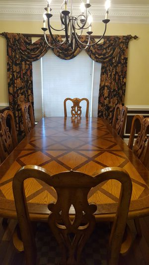 Alexander Jullian dining table and china cabinet for Sale in Cartersville, GA