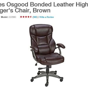 Staples CEO/Manager Office Chair for Sale in El Monte, CA