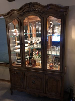China cabinet with interior lighting for Sale in Minneapolis, MN