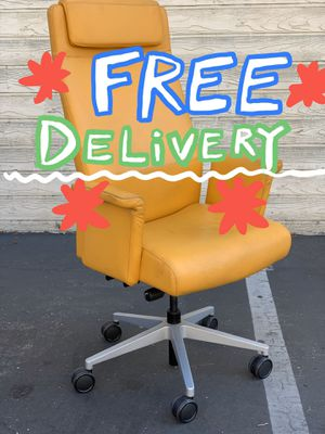 Ergonomic Steelcase Custom Leather Office Chair High Back for Sale in Los Angeles, CA
