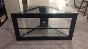 Tri-Shelved Glass-top Entertainment Stand for Sale in Pittsburgh, PA