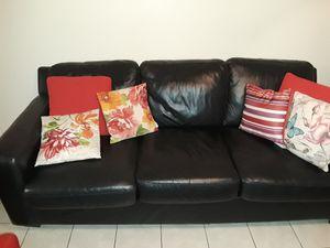 Black Leather Sofa for Sale in Brandon, FL