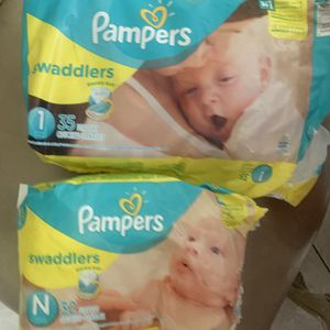 Pampers Diapers Size Newborn And Size 1 for Sale in Downey, CA