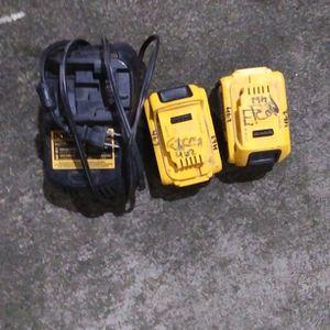 2 Dewalt 20 V Batteries And Charger for Sale in Everett, WA