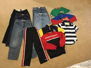 Boys clothing size 7 jeans tops and jackets lot of 11 for Sale in Sterling, VA