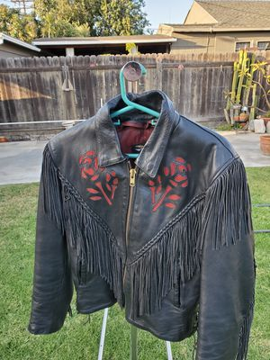 Womans leather motorcycle jacket for Sale in Garden Grove, CA