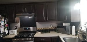 Full kitchen counter tops kitchen island and cabinets for Sale in York, PA