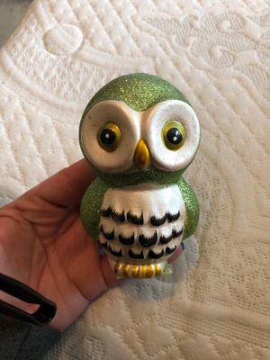 Glittery Green Little Owl Home Decor Figurine for Sale in San Diego, CA