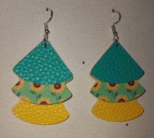 Faux leather earrings for Sale in Bakersville, NC
