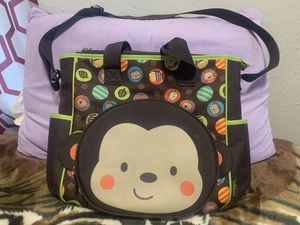 Monkey Face Diaper Bag With Matching Diaper Changing Pad Like New for Sale in Fayetteville, TN