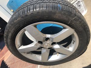 Full set camaro rims includes adapter kit to fit 5 lug chevy trucks for Sale in Fresno, CA