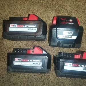 Milwaukee Batteries M18 for Sale in Dallas, TX