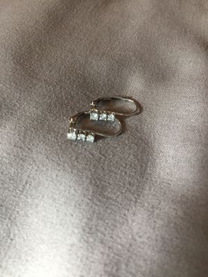 Silver Diamond Drop earrings! for Sale in Spring Valley, CA