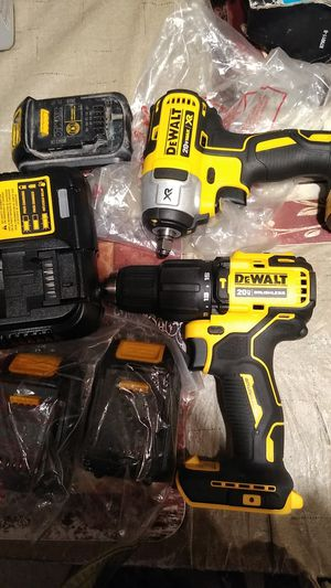 DeWalt 20 volt drill brushless and XR impact wrench with three batteries and charger for Sale in Antioch, CA