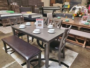 6 PC Dining Set, Grey for Sale in Midway City, CA