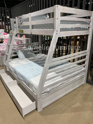 Twin/full bunk beds with mattresses included for Sale in Pico Rivera, CA
