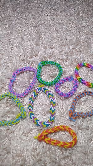Homemade loom bracelets for Sale in Phoenix, AZ
