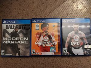 Modern Warfare, Madden 20, UFC 3 for Sale in Cranberry Township, PA